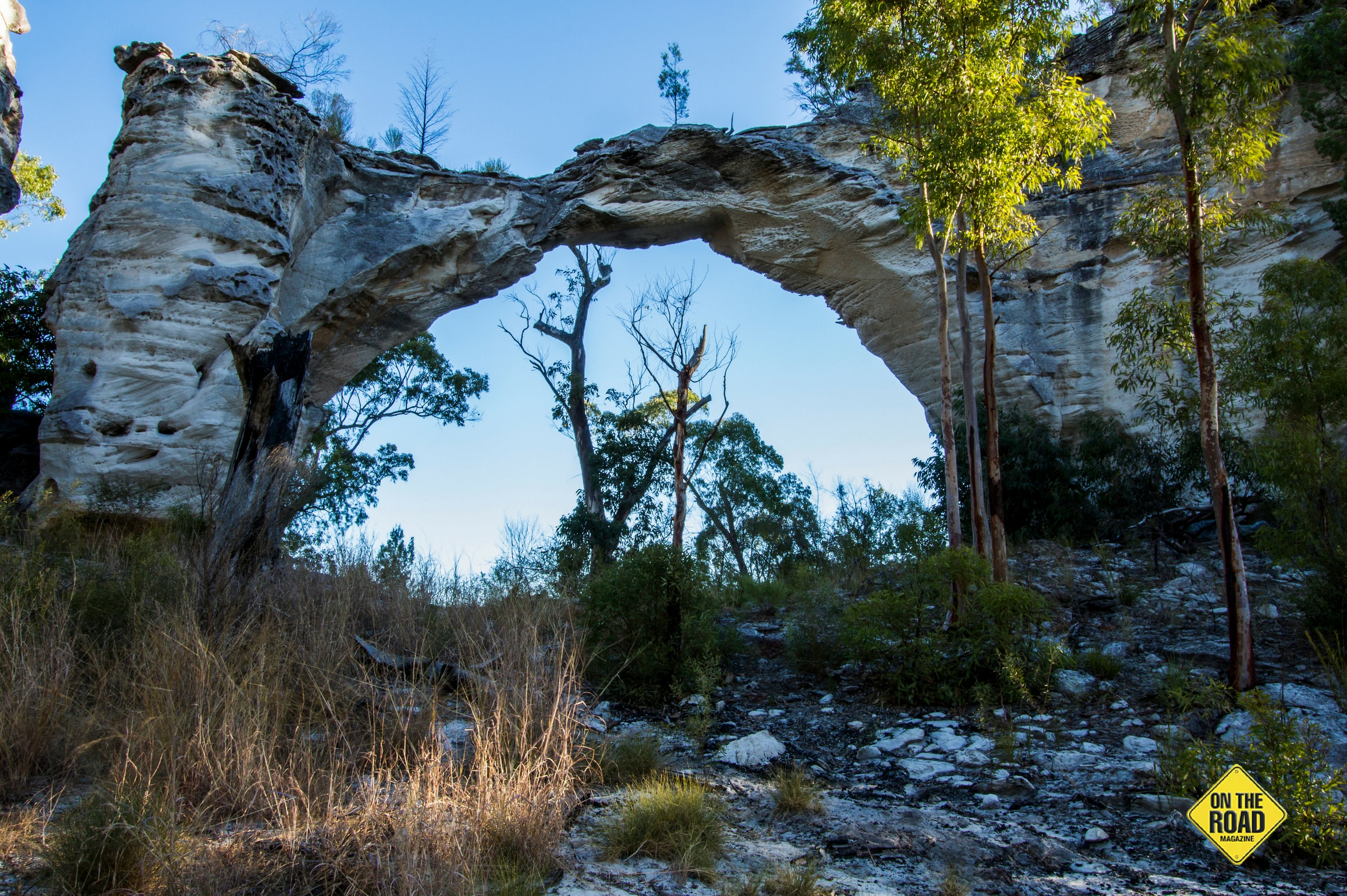 One of the many wonders of the impressive sandstone formations, Marlong Arch.