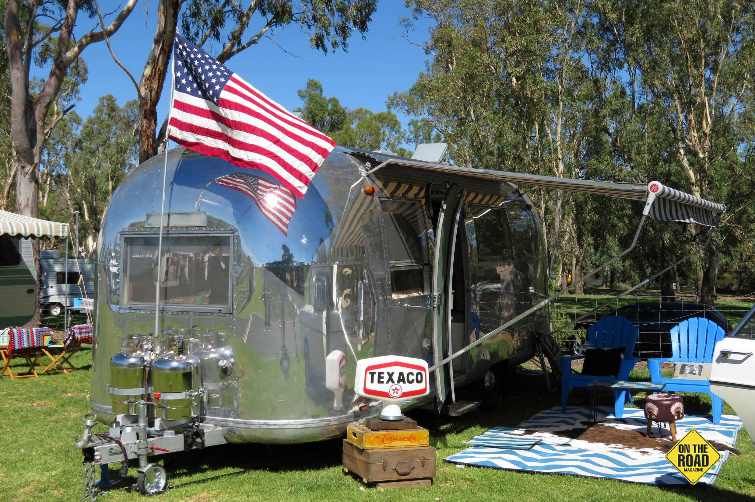 This 1967 Airstream has been polished to a mirror finish
