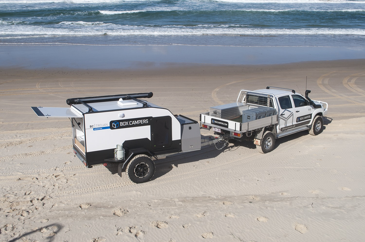 Box Campers Press Release On The Road Ford Raptor With Camper S Bc Trojan Towed