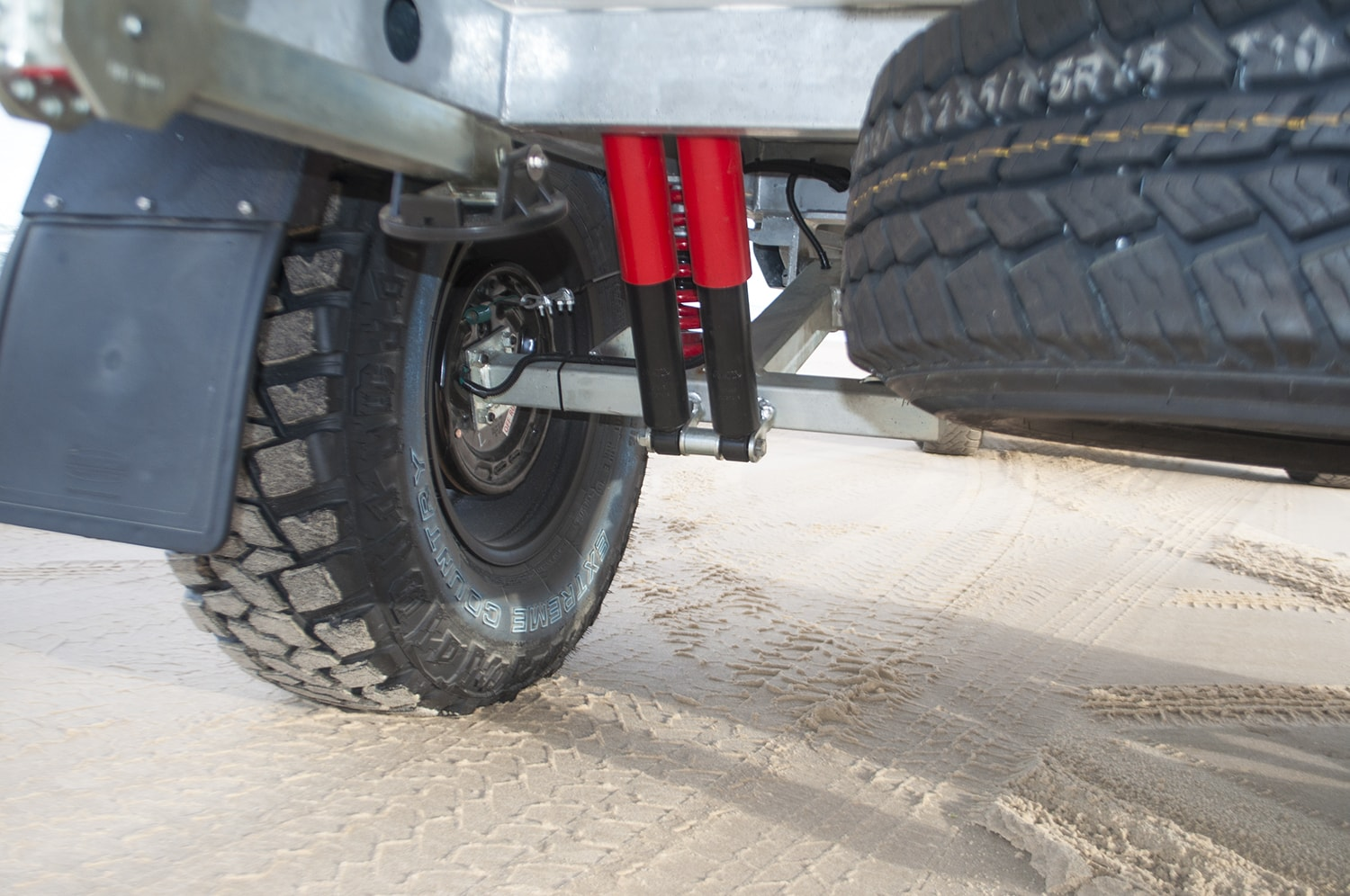 galvanised chassis fitted with Cruisemaster's XT Coil independent suspension
