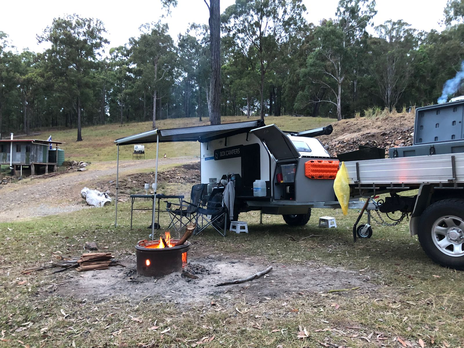 This fully insulated, power packed camper trailer is set up in less than a couple of minutes.