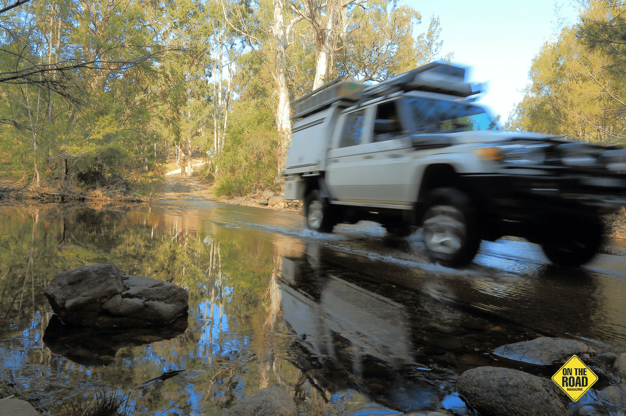 Crossing Woila Creek Causeway in the Belowra Valley