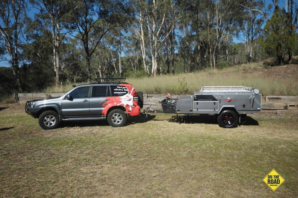 Folded up the Cub Escape is a compact easy to tow trailer