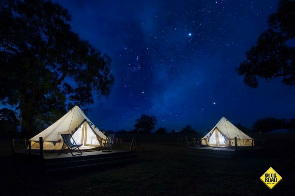 Glamping under the stars is the way to go if you don't have a tent of your own or a caravan