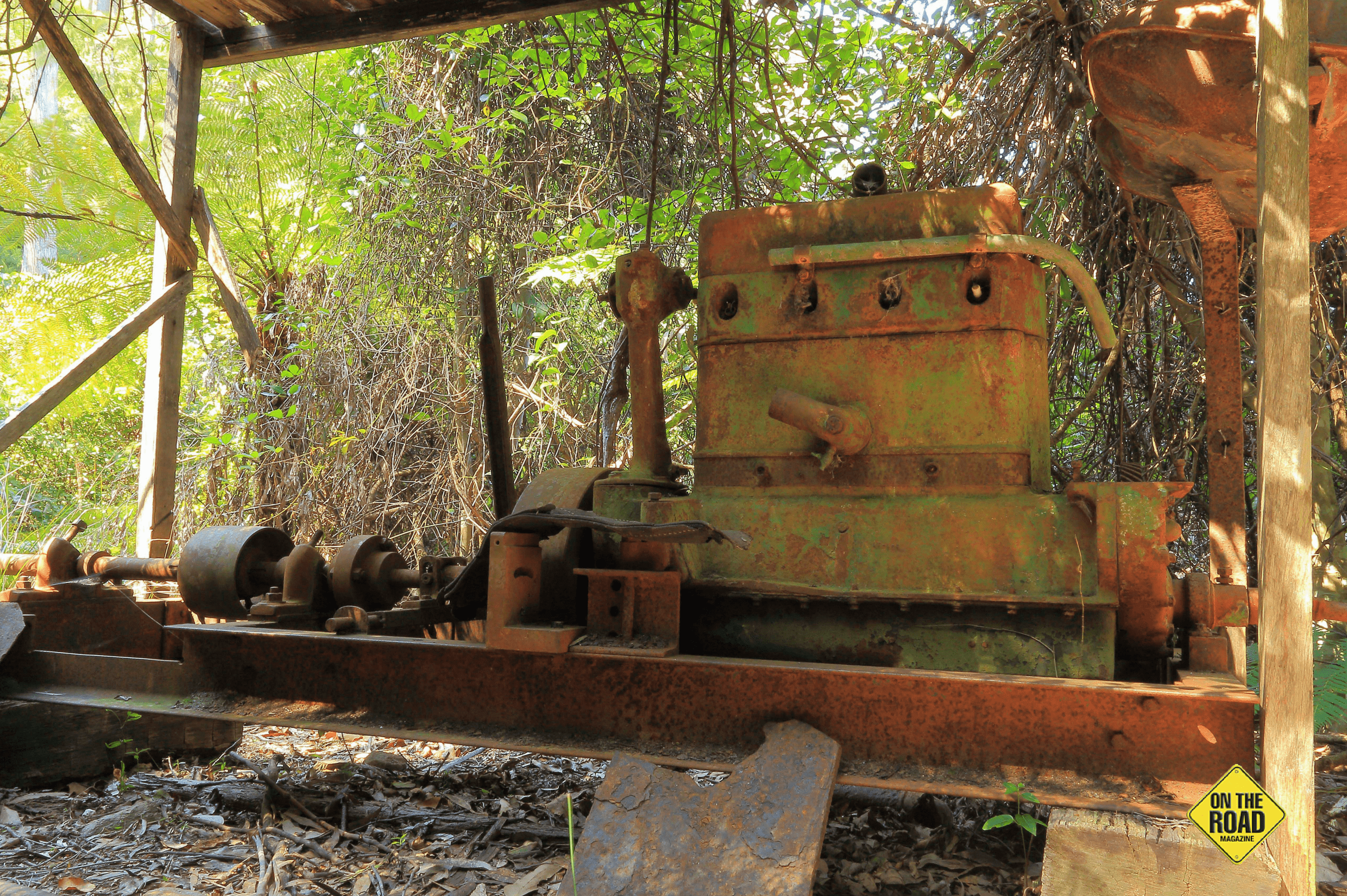 Mining relics at Comans Mine
