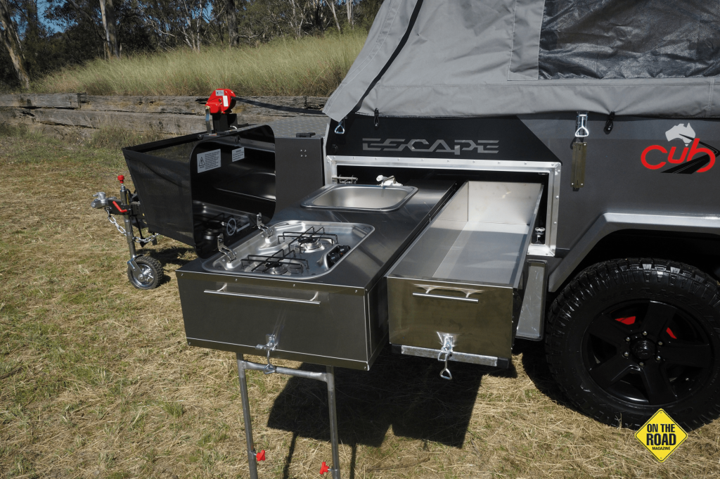 The Cub Escape has an outdoor pullout kitchen