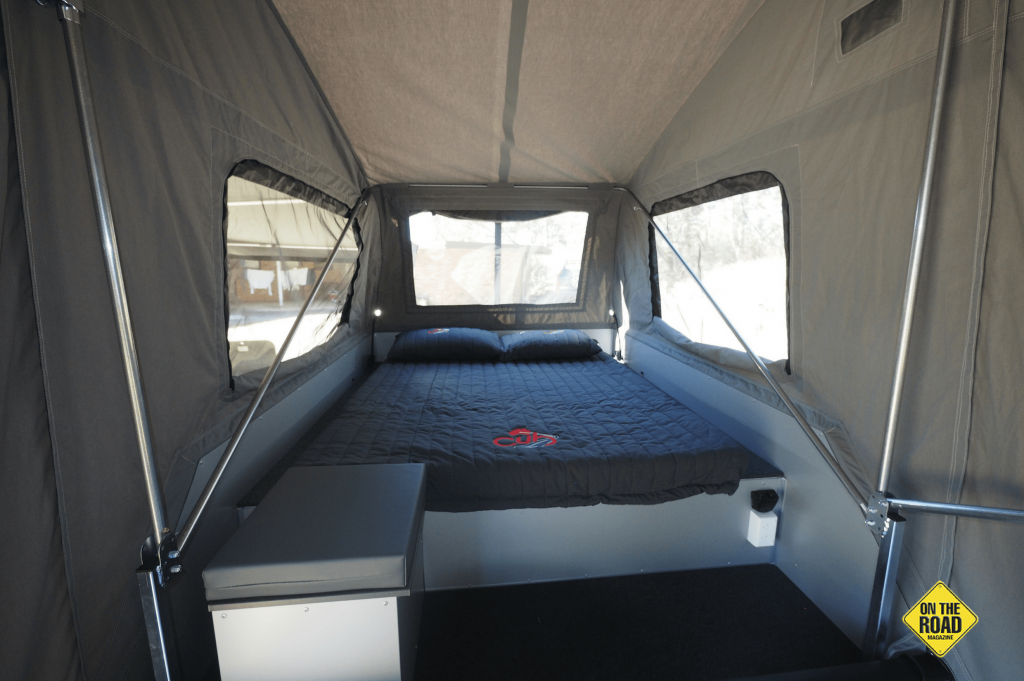 The escape has a large comfortable bed