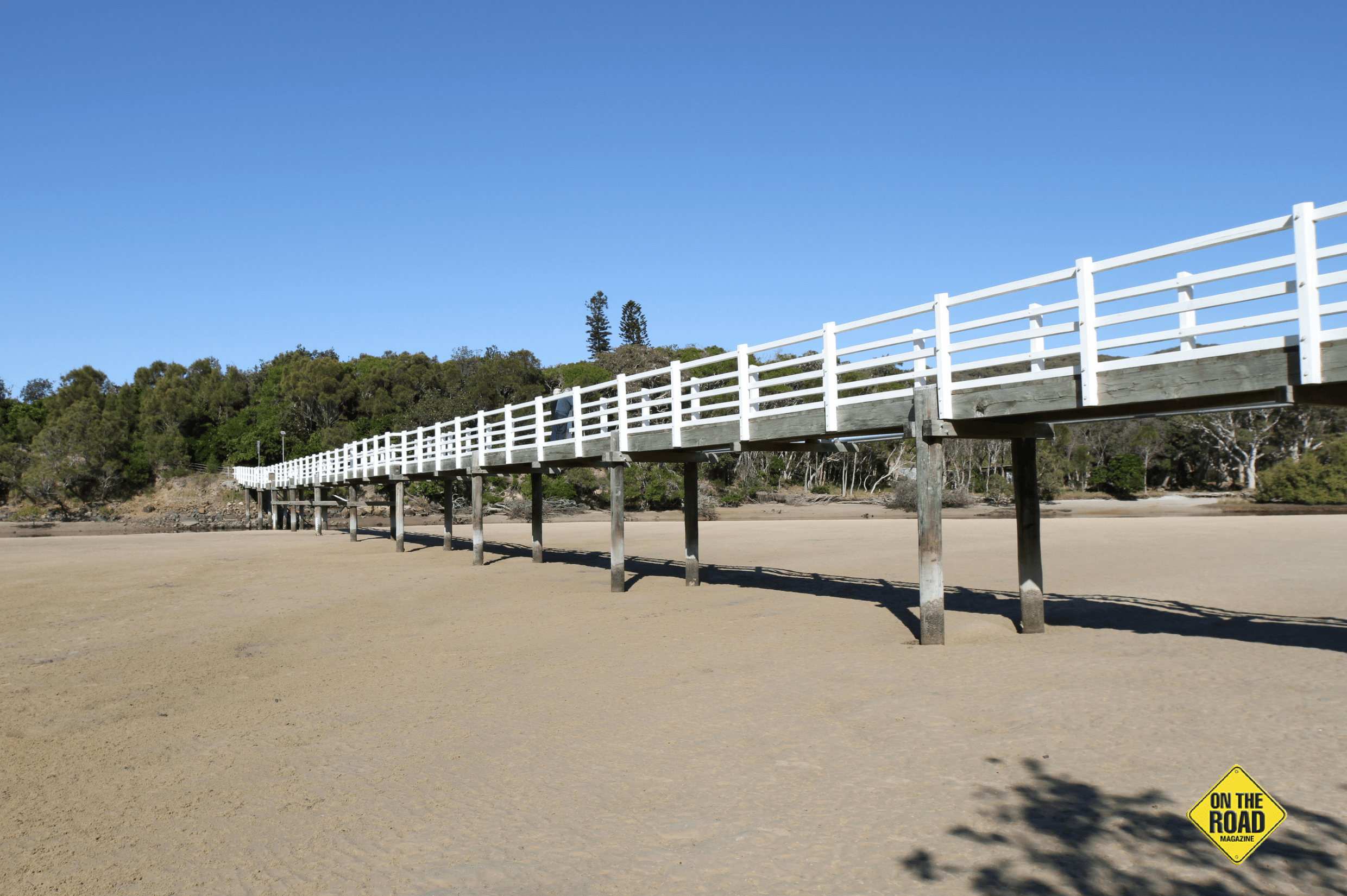 The foot bridge gives you easy access