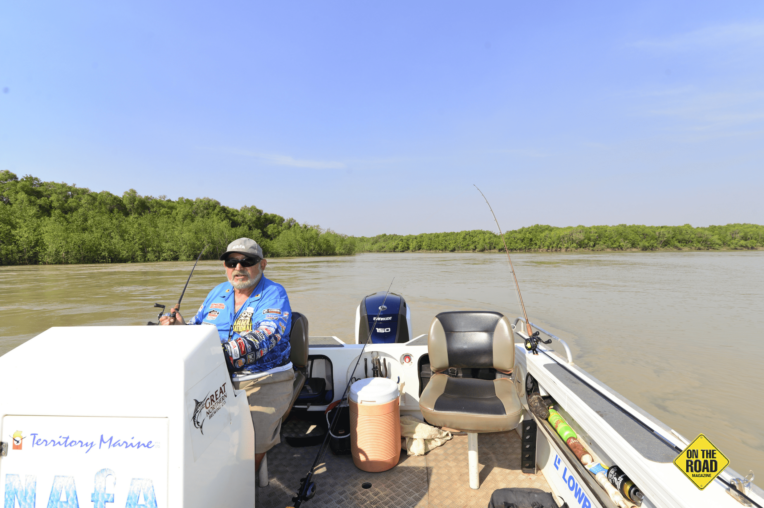 Alex Julius hard at work in his office, the South Alligator River