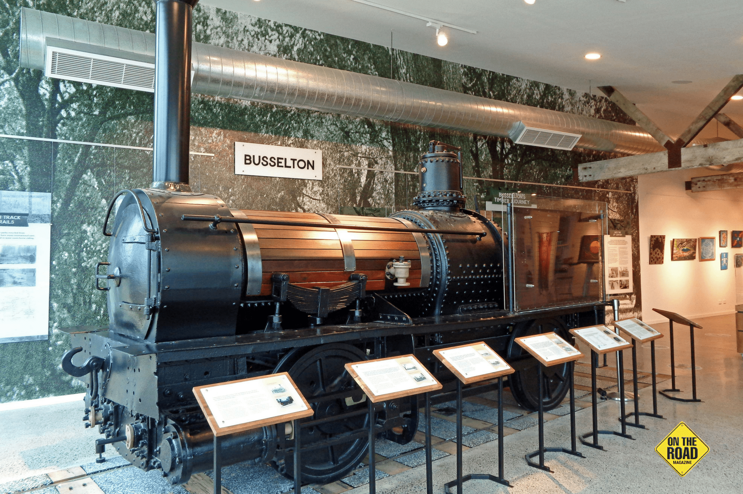 See Western Australia's first steam locomotive on display at Busselton visitor centre.