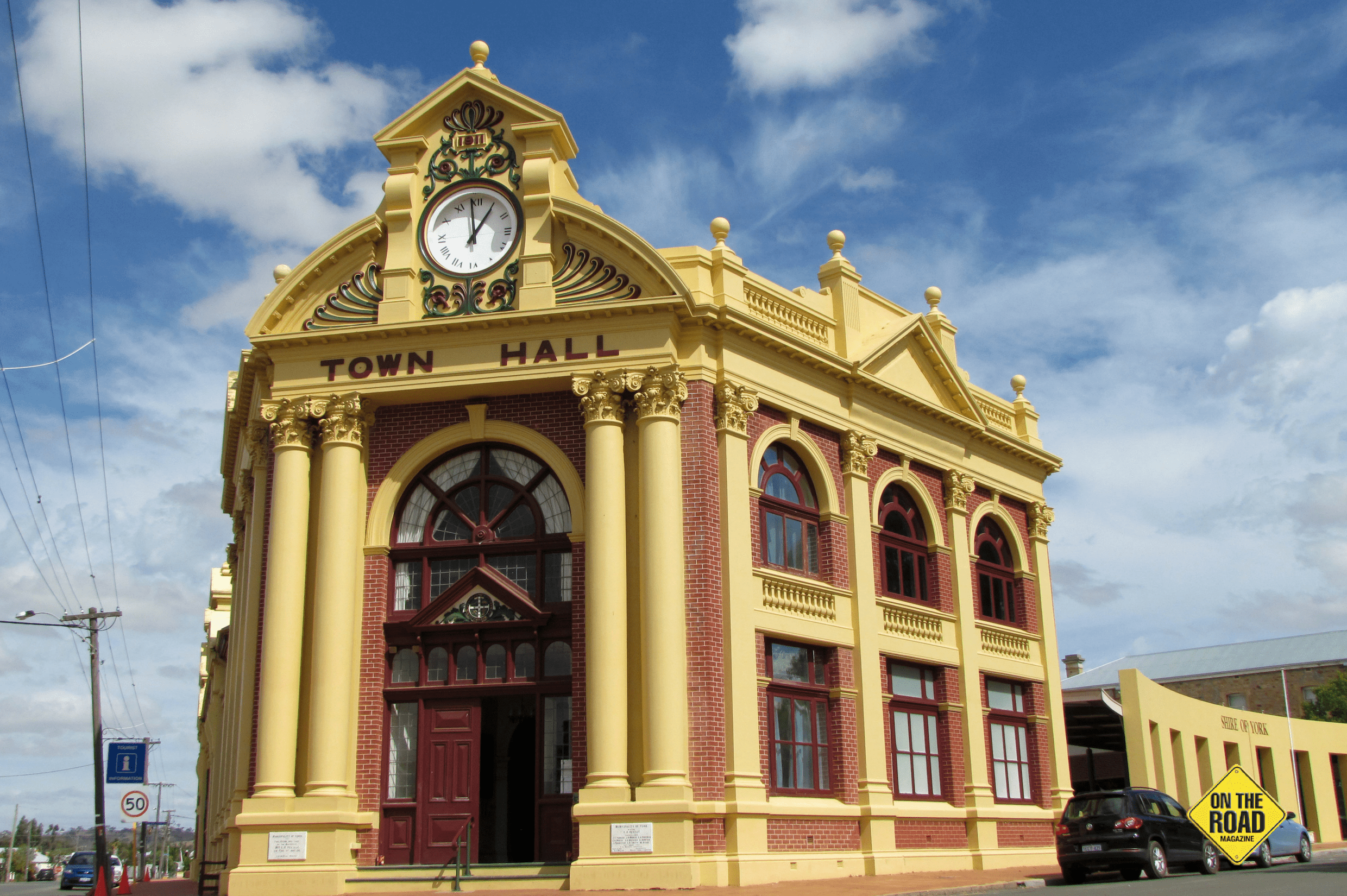 York visitor centre, about 100km east of Perth, is located in the ornate town hall dating from 1911.