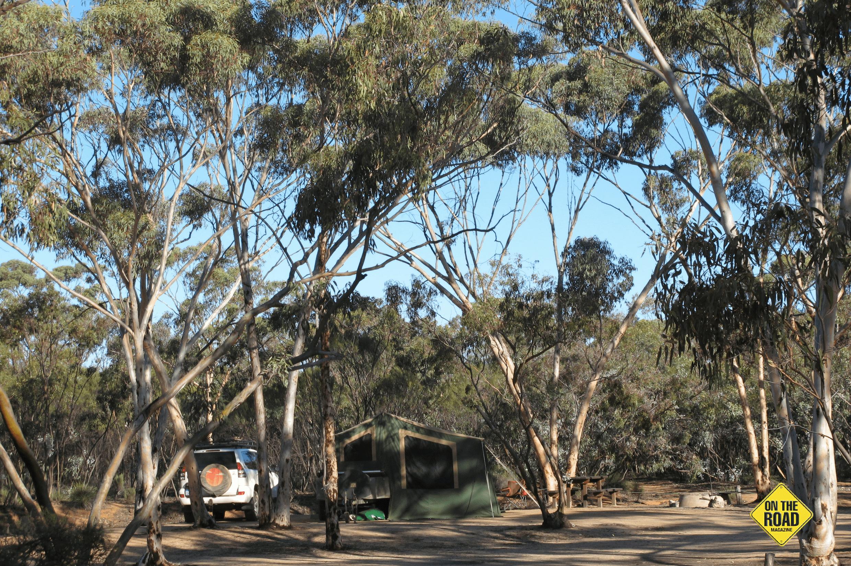 camping at Karalee Rock