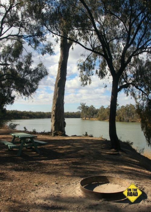 Complete peace and quiet at Kings Billabong campsite