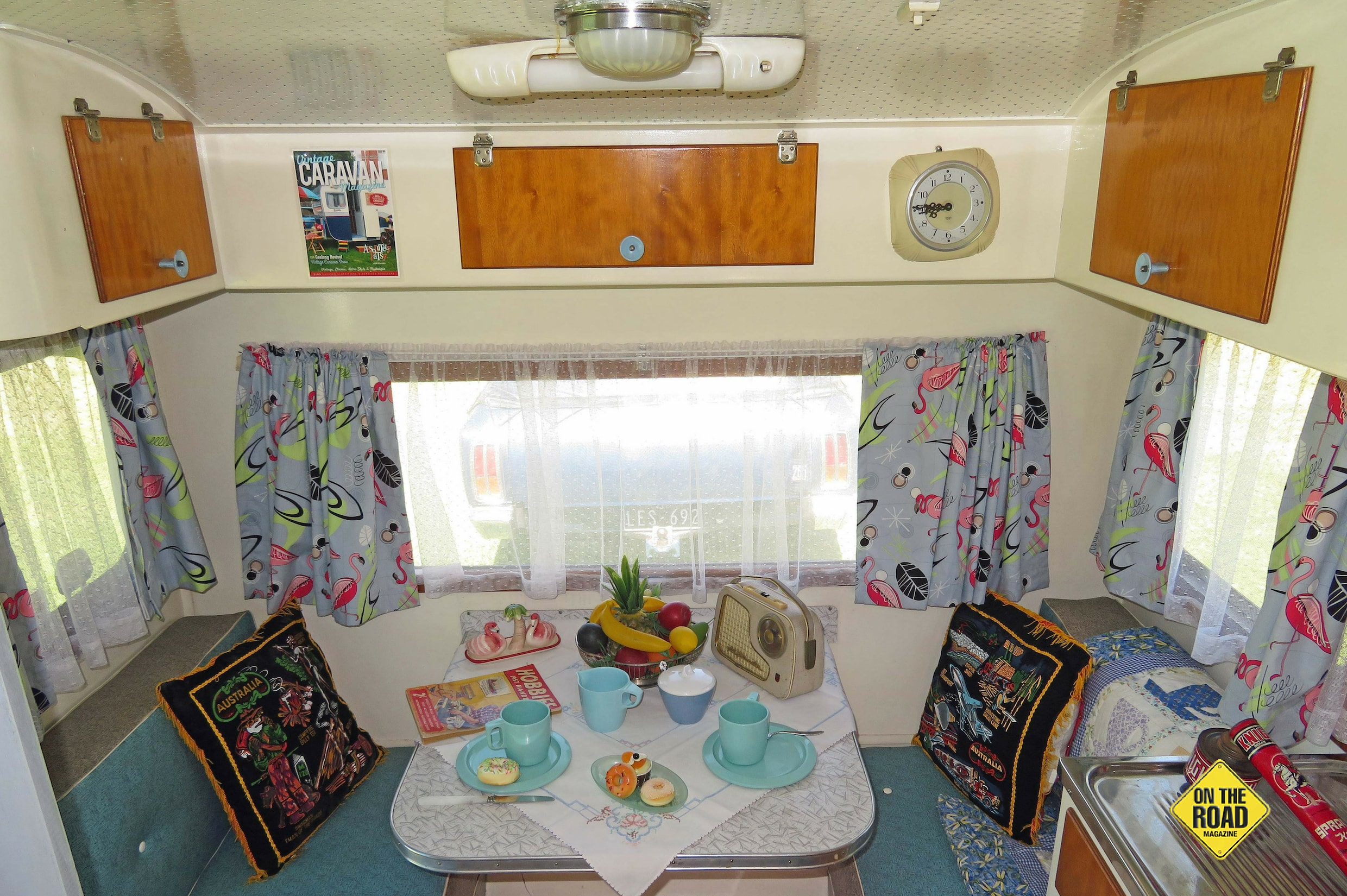 Dennis and Sandra have decorated the van in retro styling to the smallest details