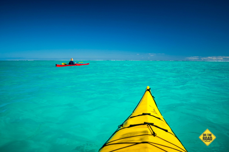 Sea kayaking Turquoise Bay inside WA's Ningaloo Reef