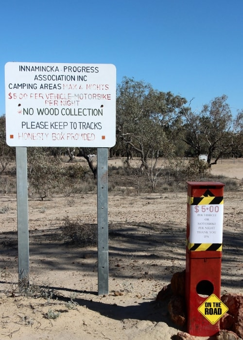 The Town Common at Innamincka entrance