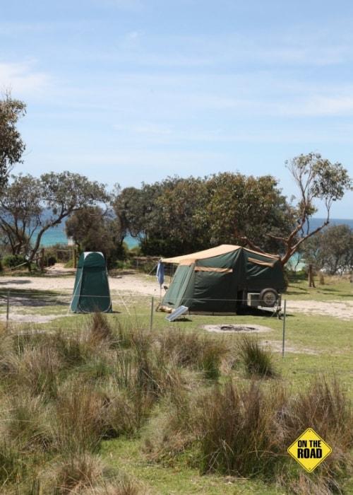 Top bush camping at Gillards Beach