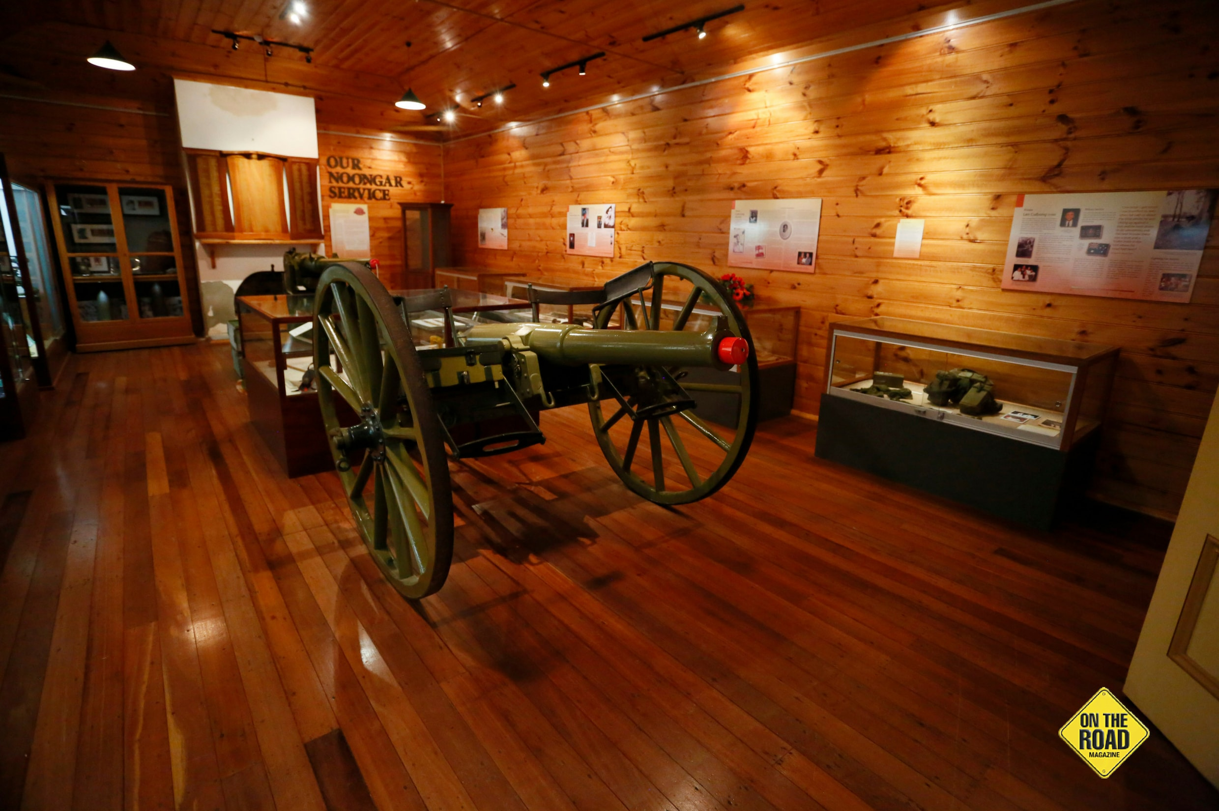 Inside one of the WWl military museums at Princess Royal Fortress
