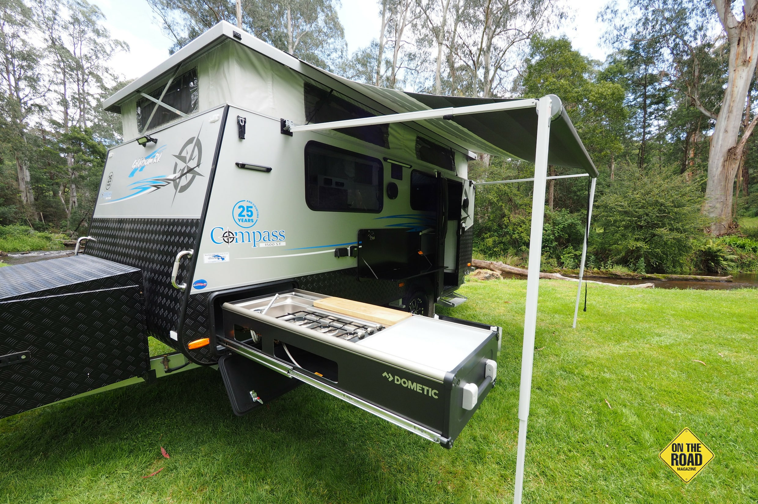 The Compass 1500 is the latest poptop caravan from Goldstream and we are very impressed with the little off-roader