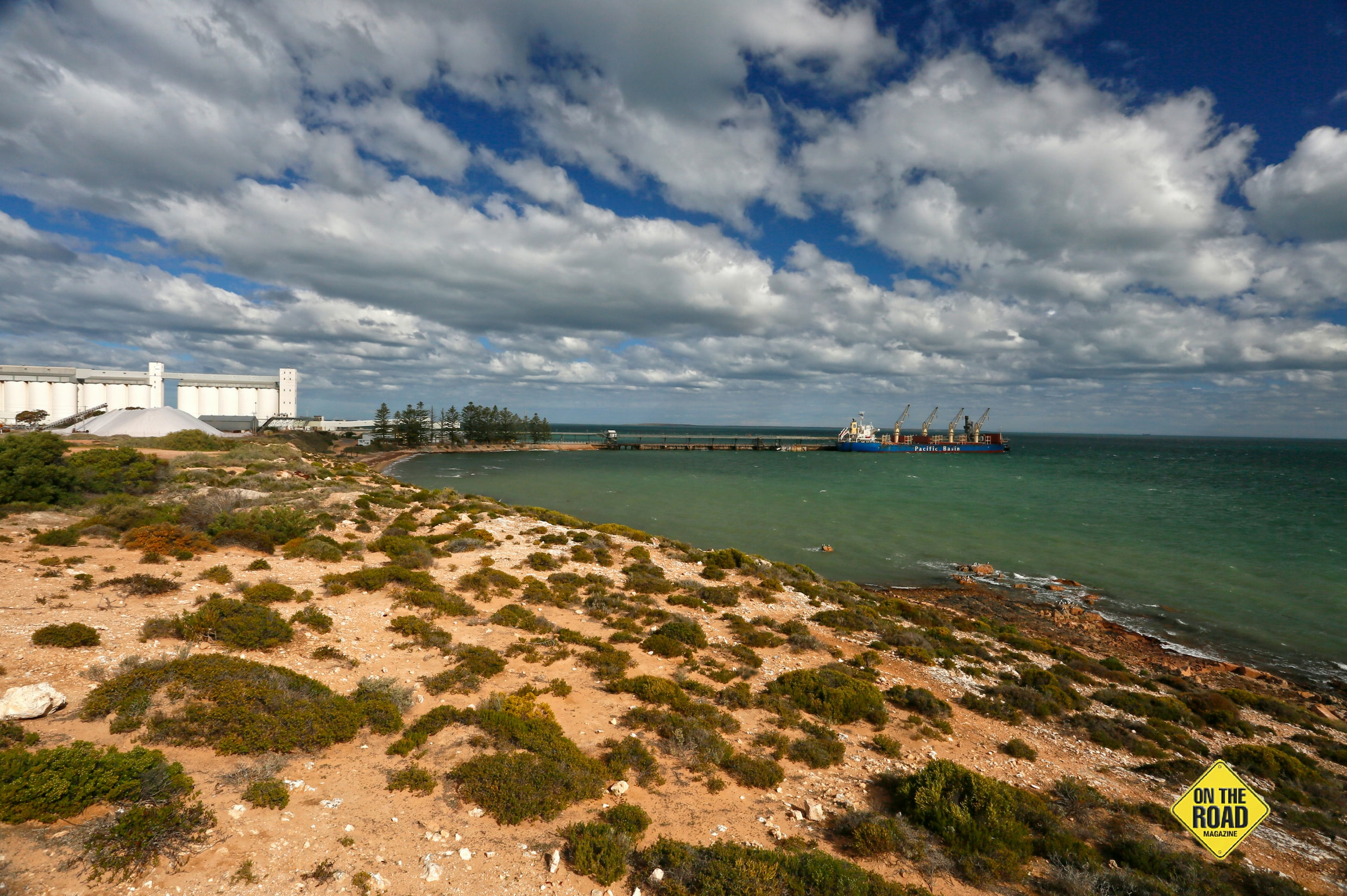 The commercial jetty and port facility at Cape Thevenard, Ceduna
