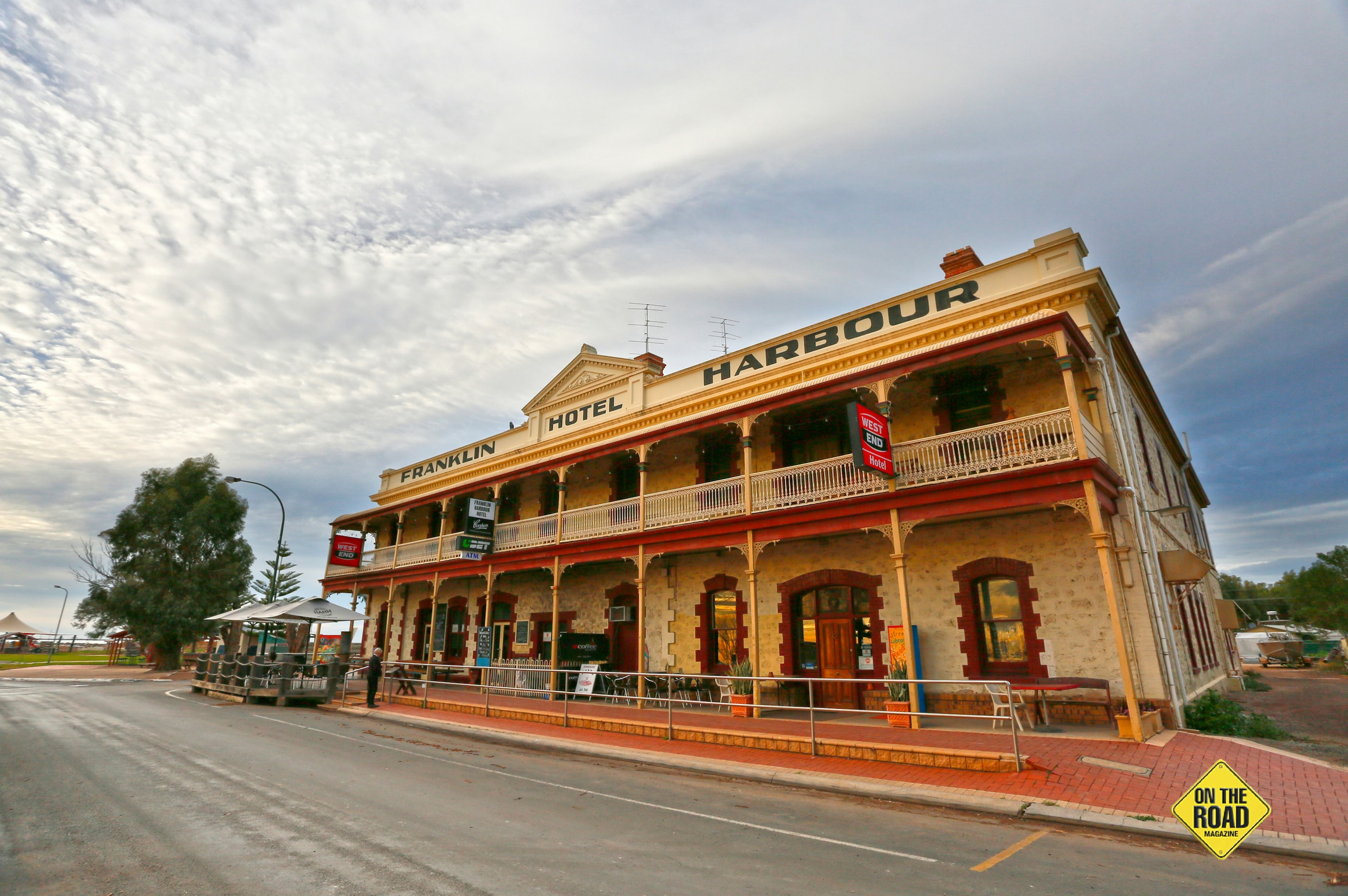 The historic Franklin Harbour Hotel at Cowell