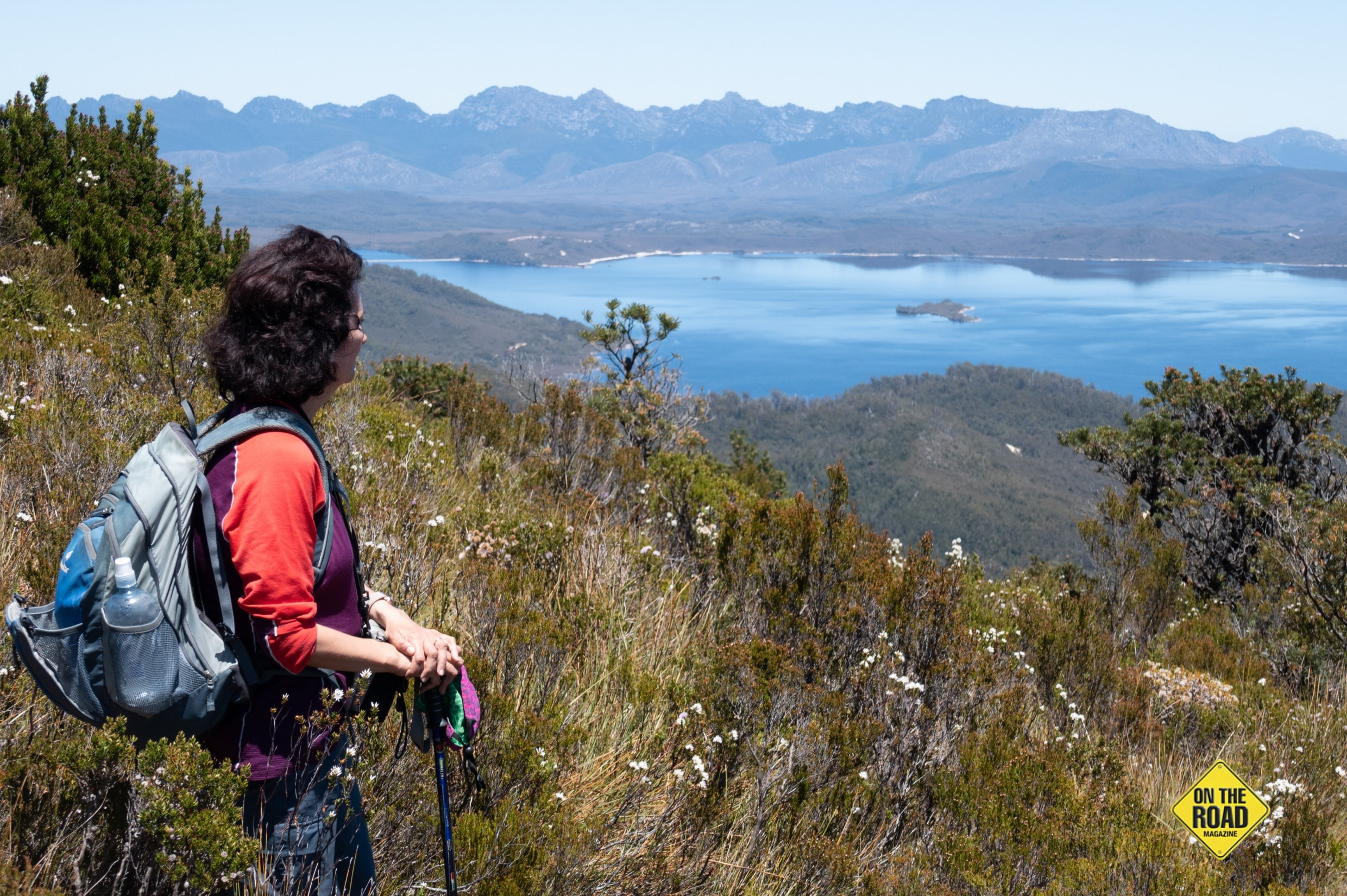 Panaromic view of Lake Pedder from the Mt Eliza trail