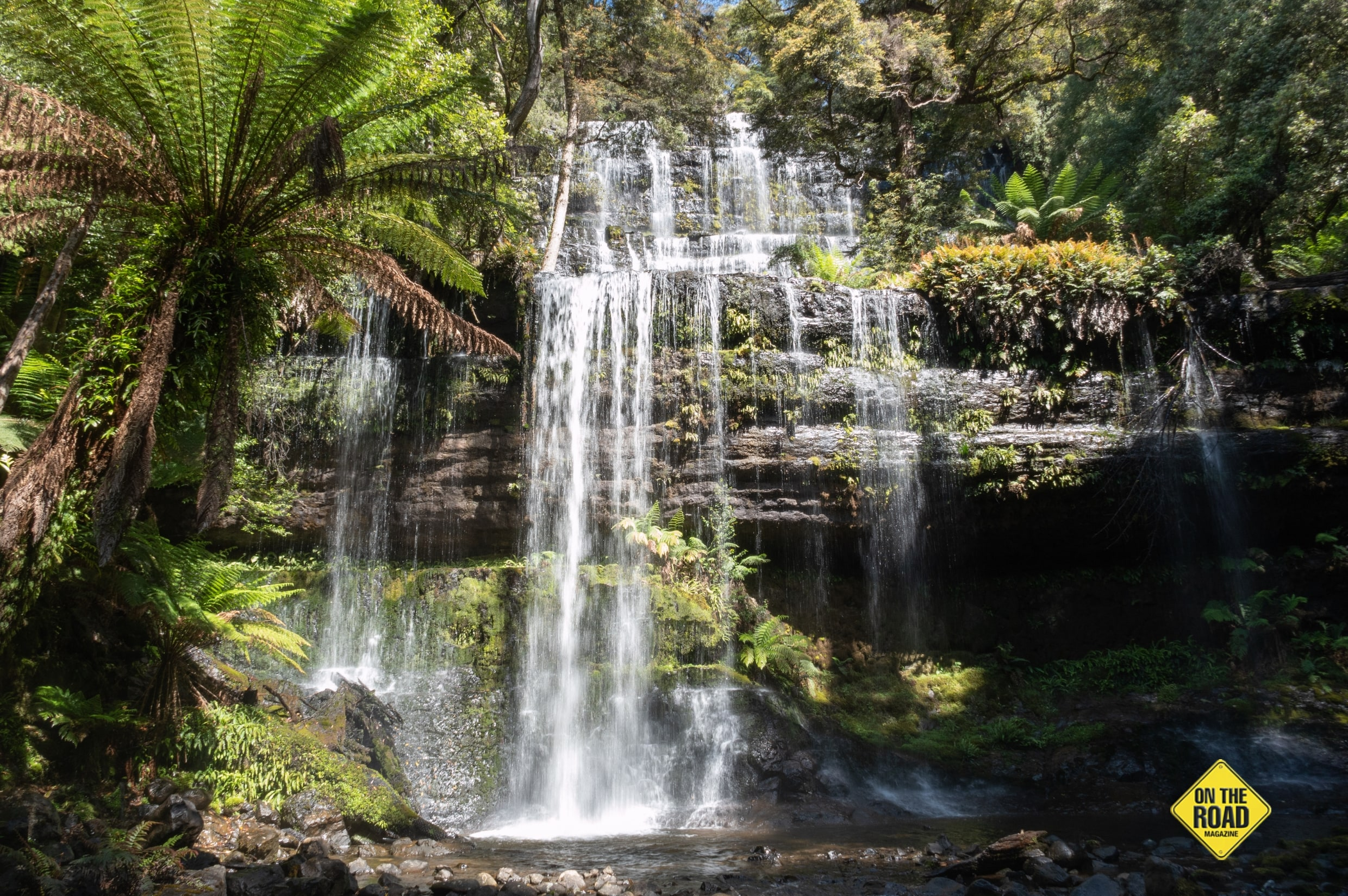 Russell Falls in Mt Field National Park is one of Tassies finest falls
