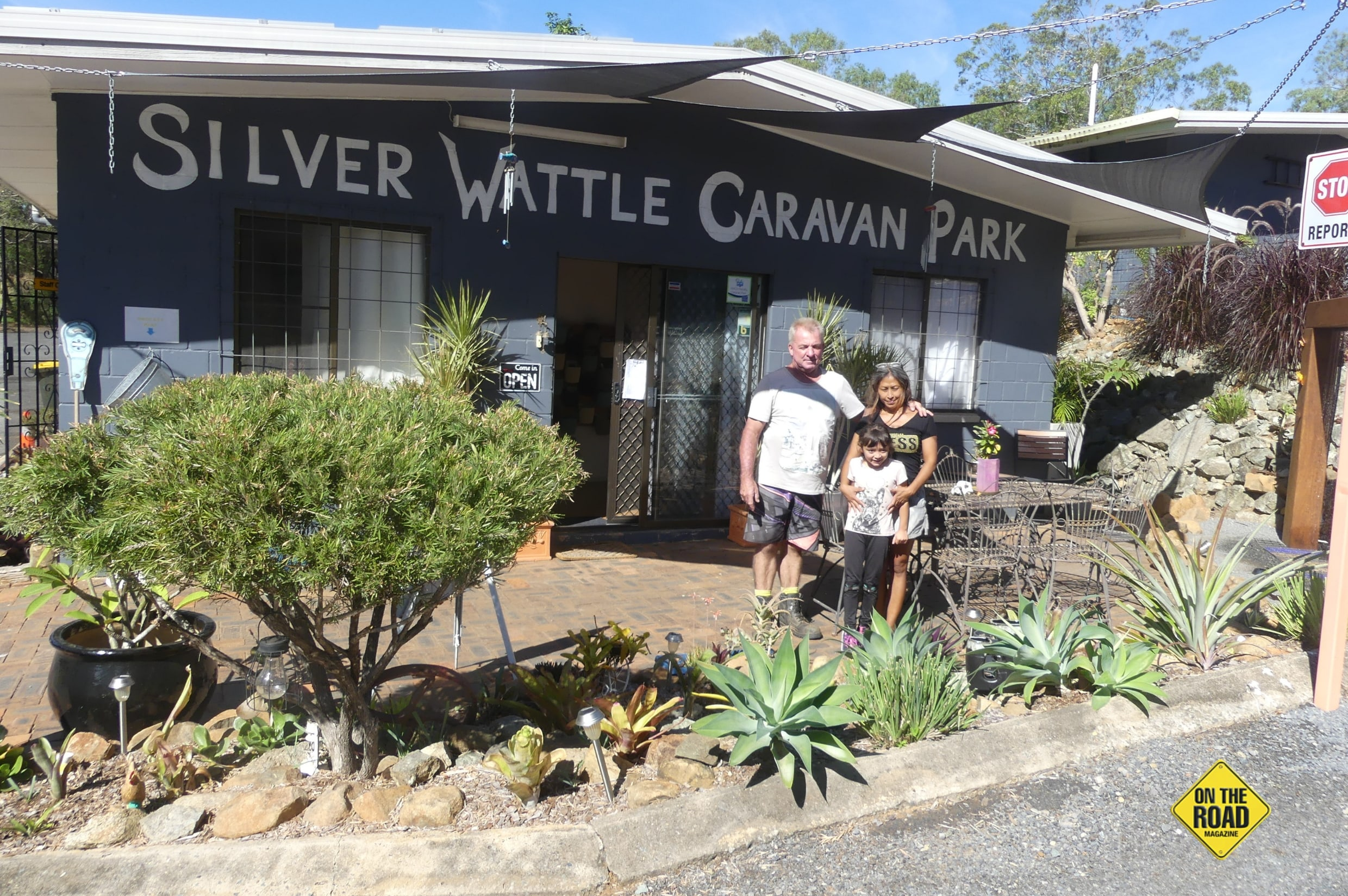David and Debi Brant decided to call the Silver Wattle Caravan Park home.