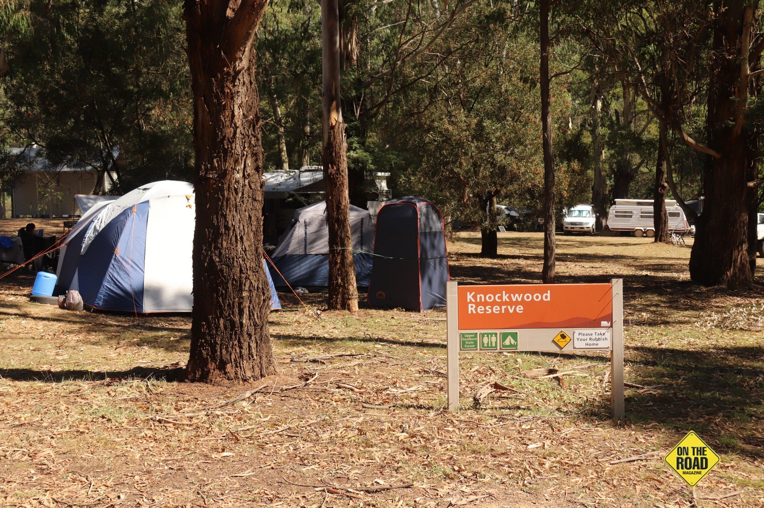 Camping among the trees at Knockwood Reserve