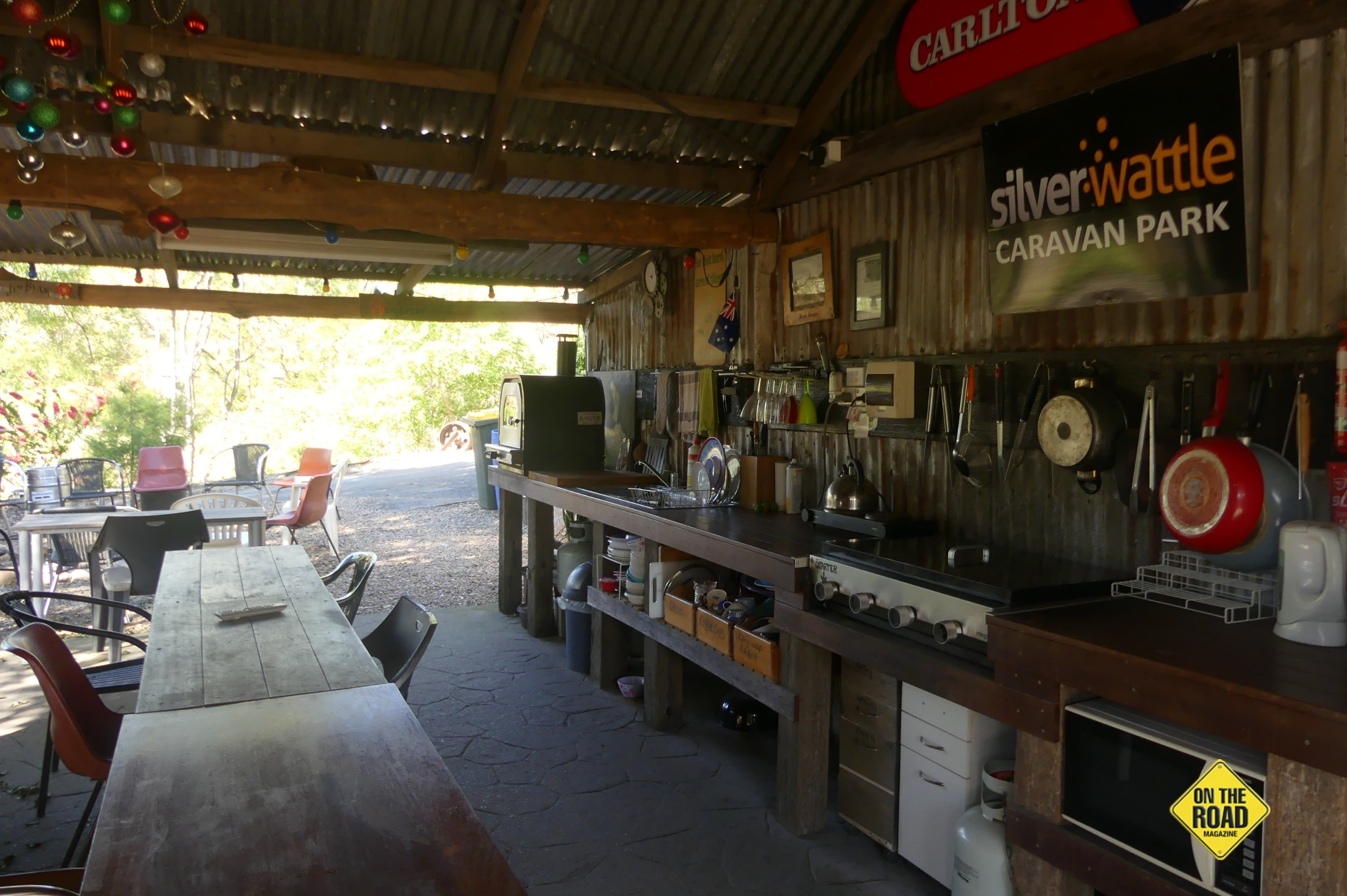 Happy hour is a highlight of the Silver Wattle Caravan Park