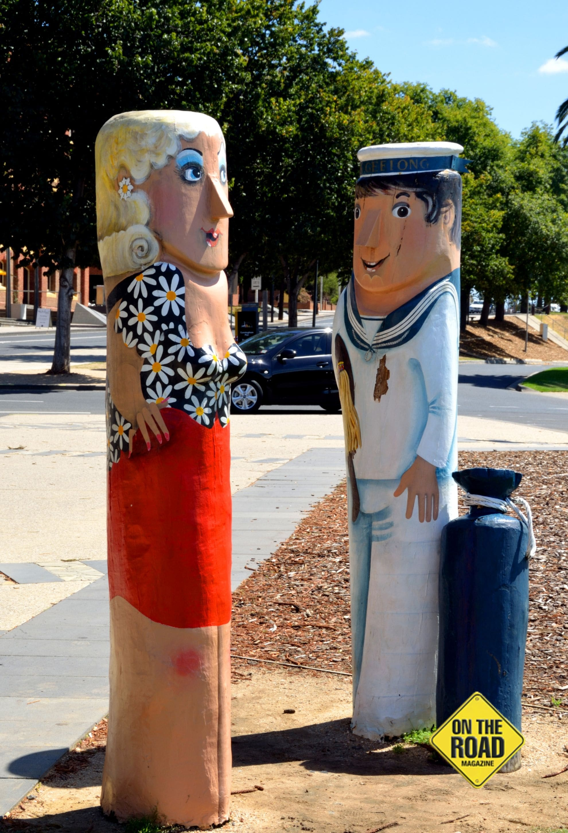 'Hello Sailor' - part of the precincts Waterfron Bollard Trail