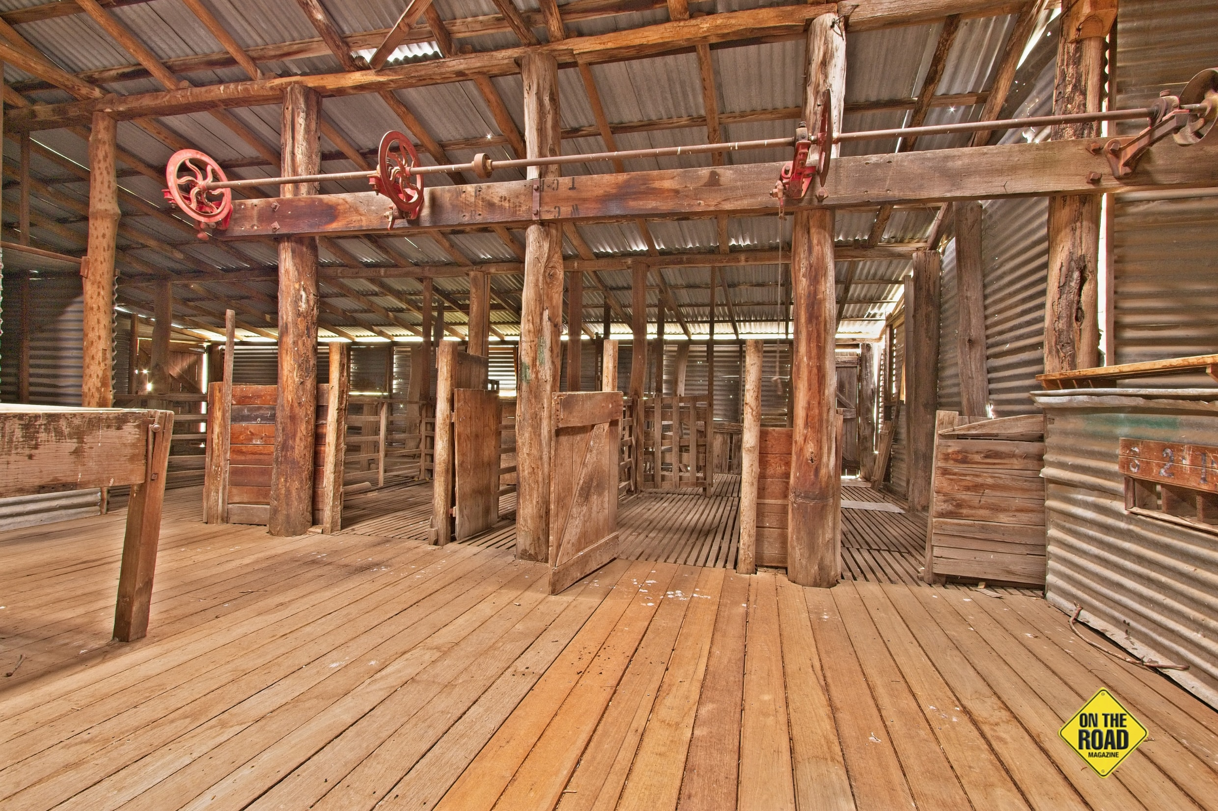 The interior of the Orroral Valley Homestead Woolshed is well worth exploring.