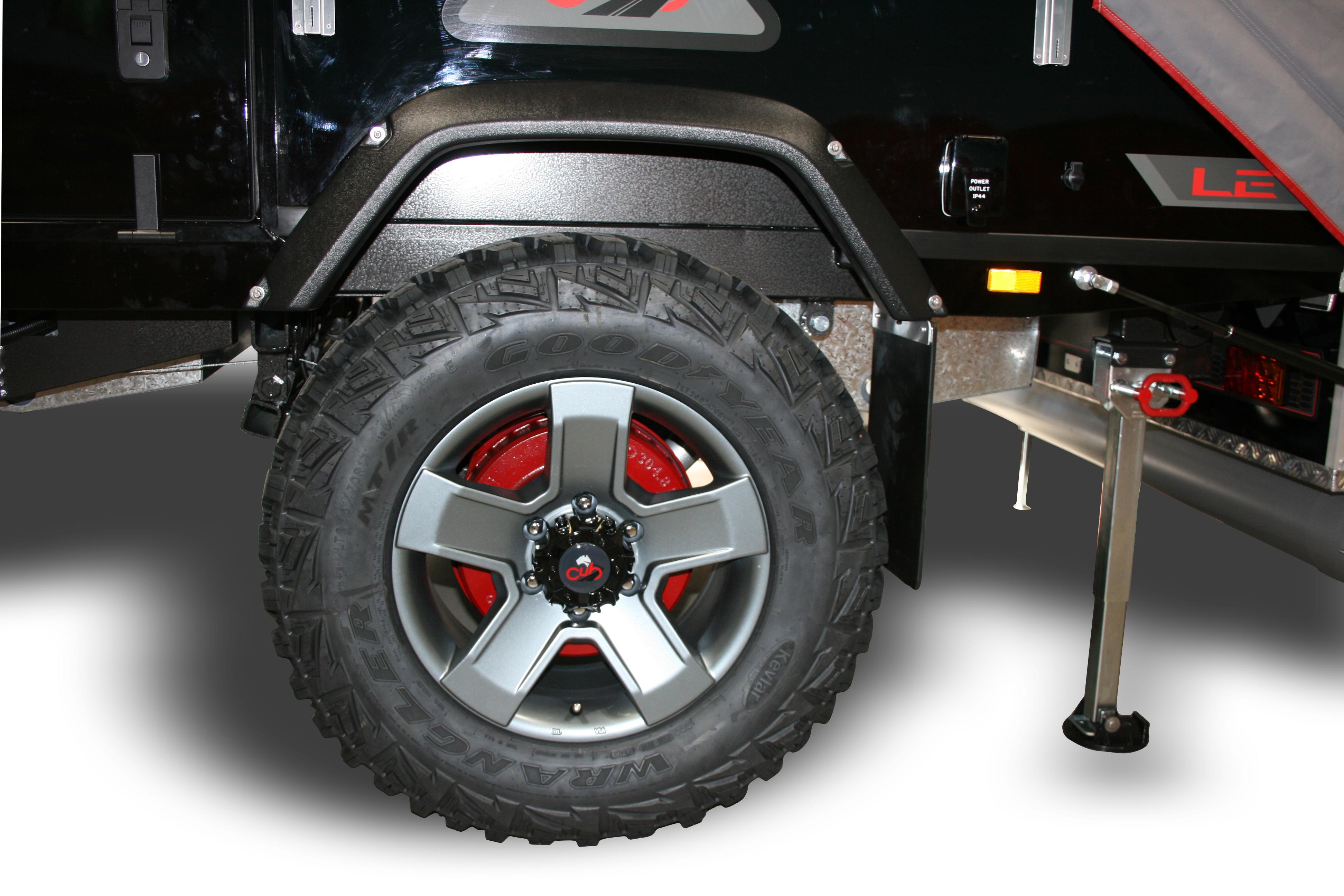 265/70R17 Alloy Gun Metal Wheels and Goodyear Mud Terrain Tyres