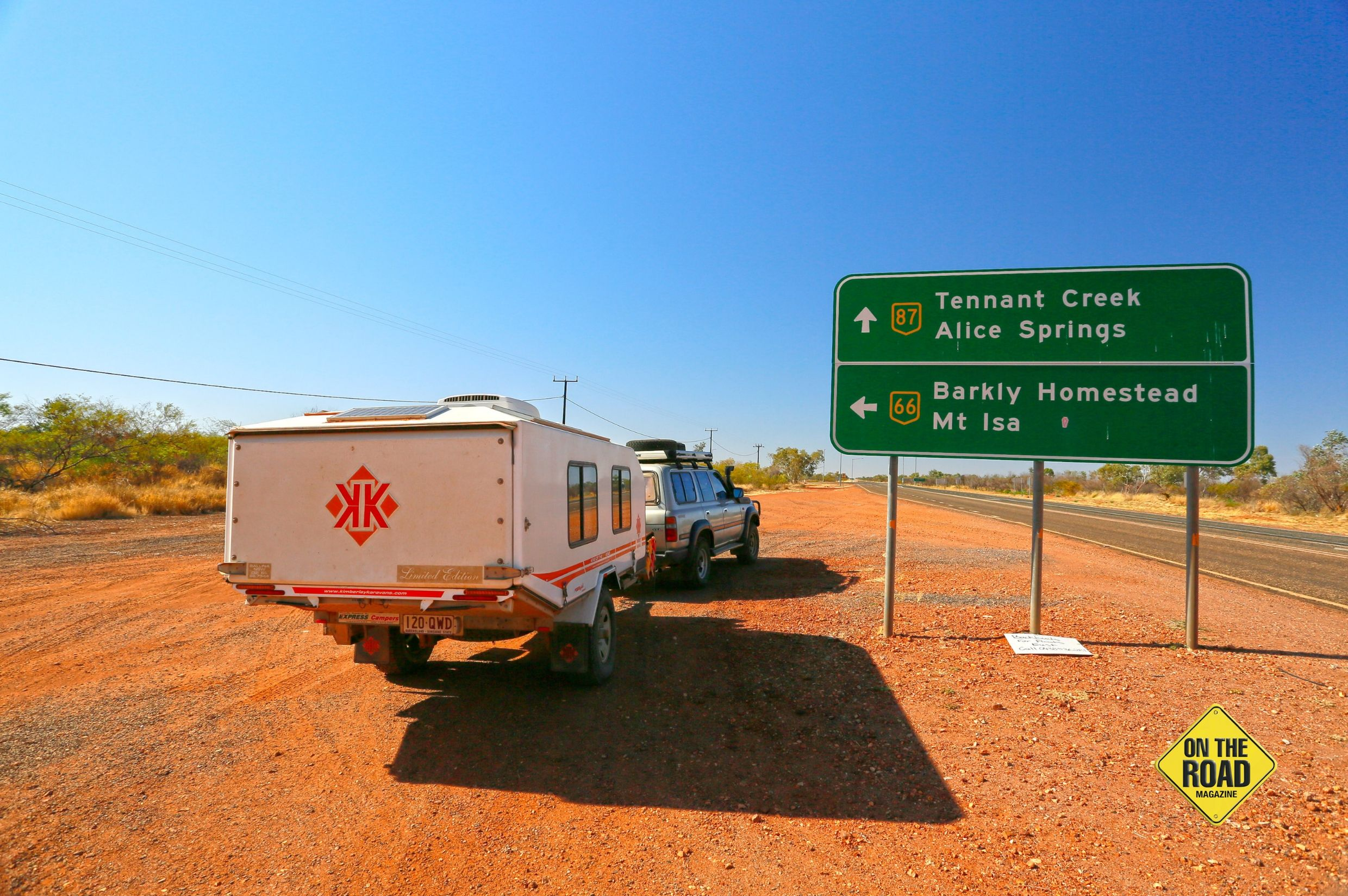 About to head east on the Barkly Highway towards Mt Isa