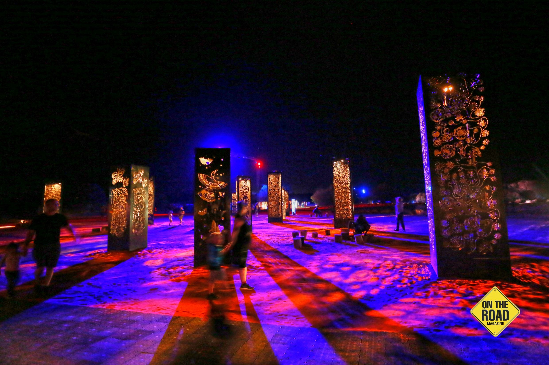 Forest Space' sculptures at the Desert Park venue during Parrtjima