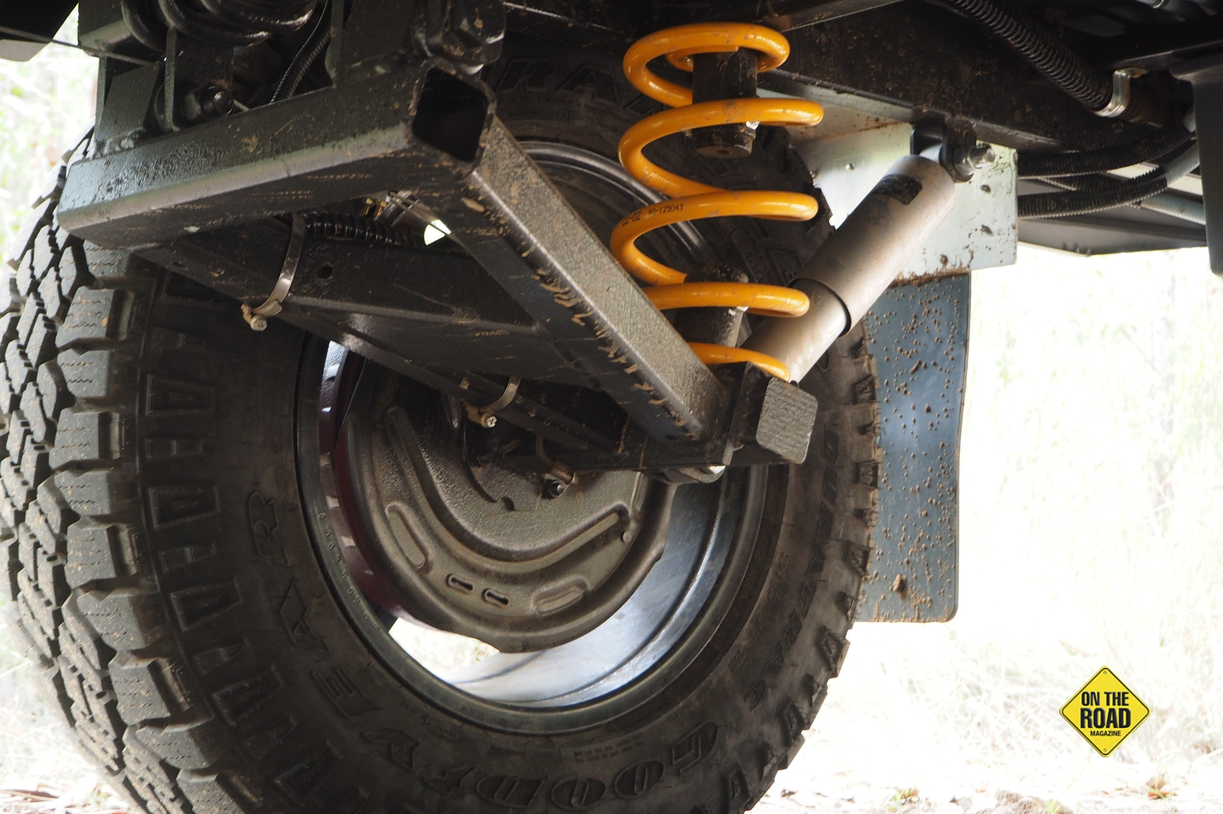 The Frontier has independent offroad suspension.