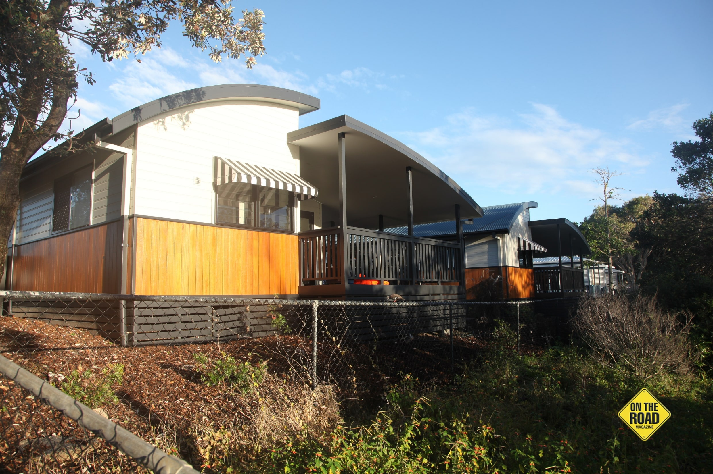 The first class recently renovated Letitia Cabins at Fingal Head Holiday Park.