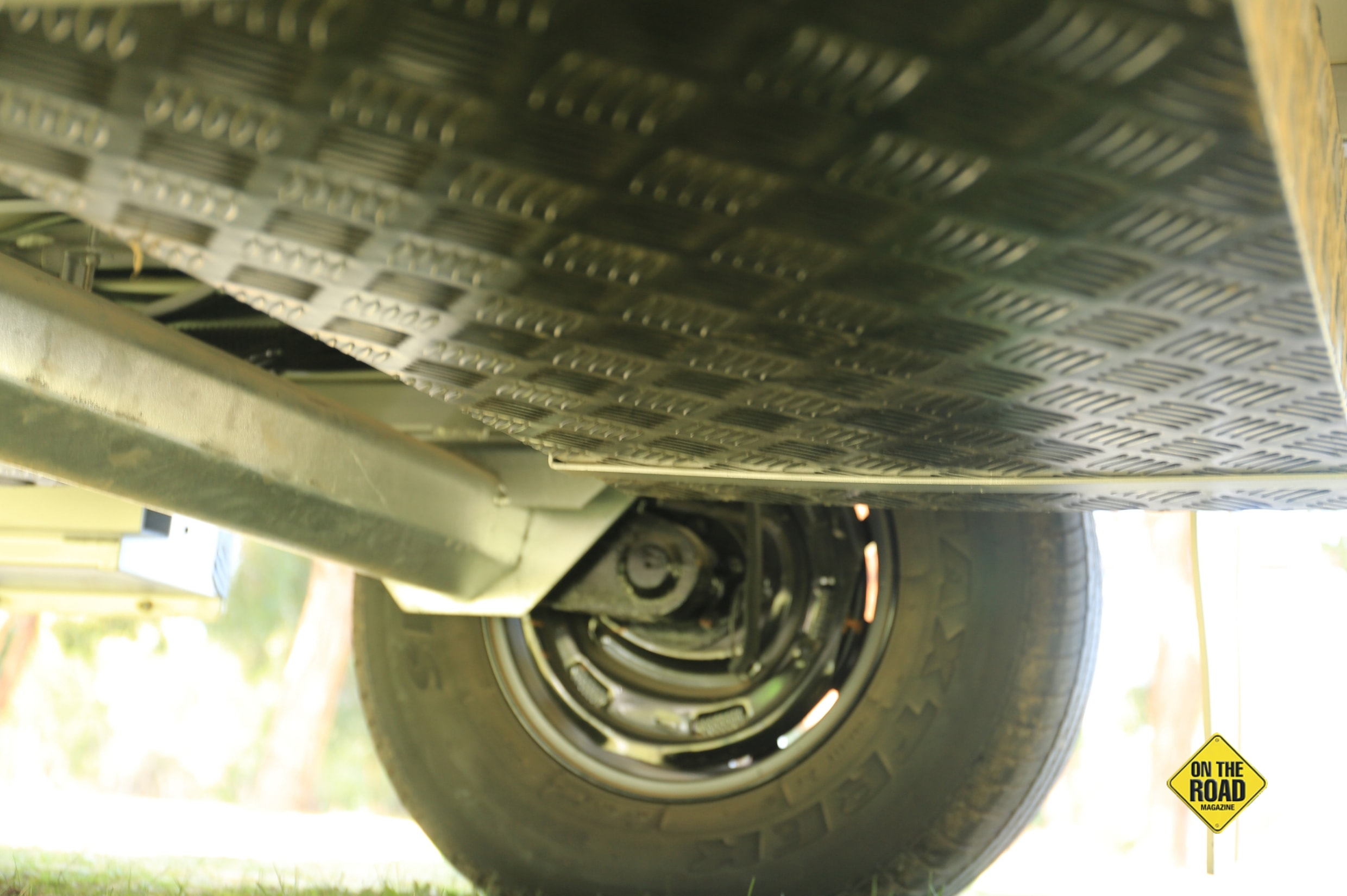 The suspension is the well-proven rubber torsion bar system that is used widely in America.