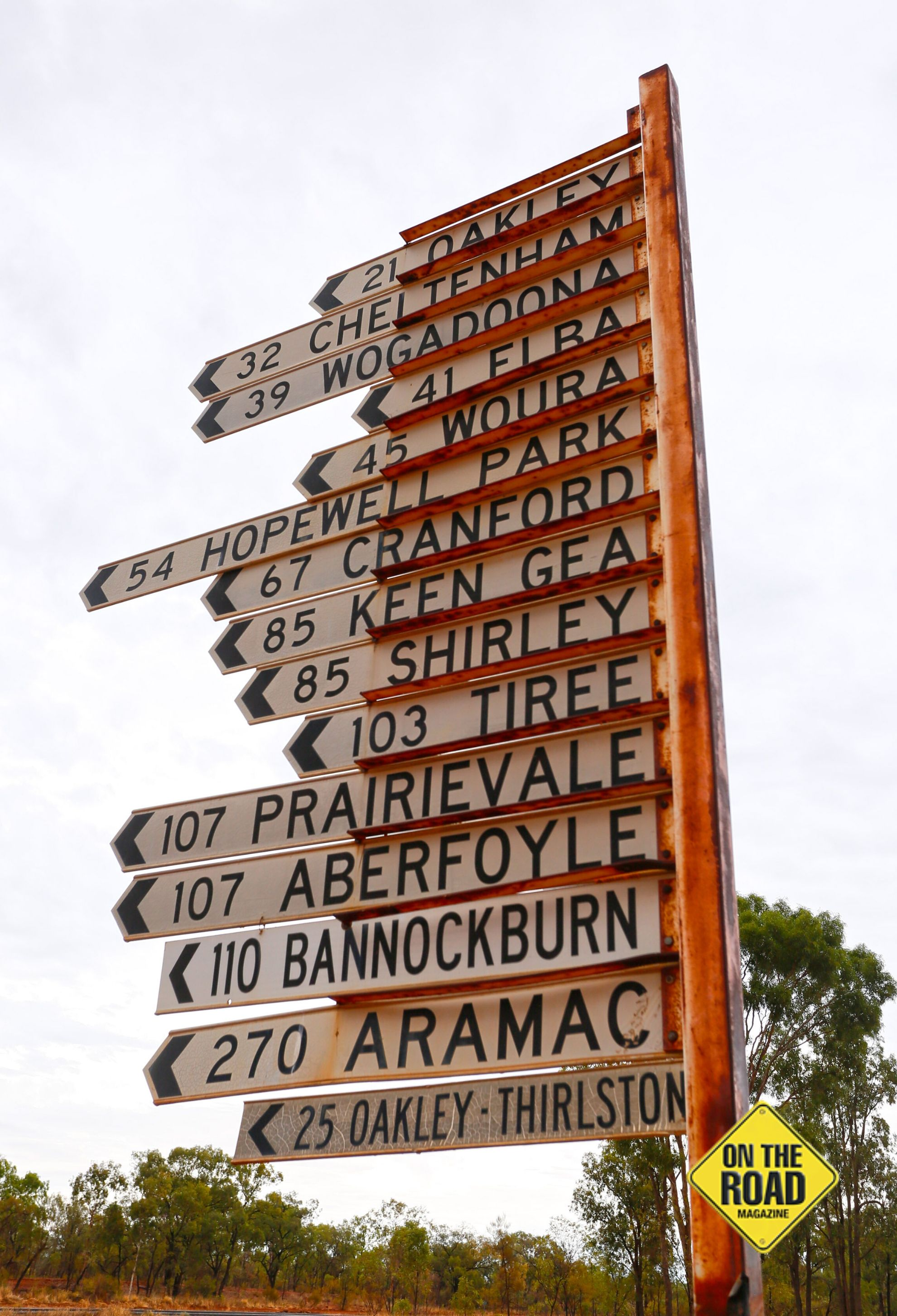 Destinations south of Torrens Creek on the way to Barcaldine.