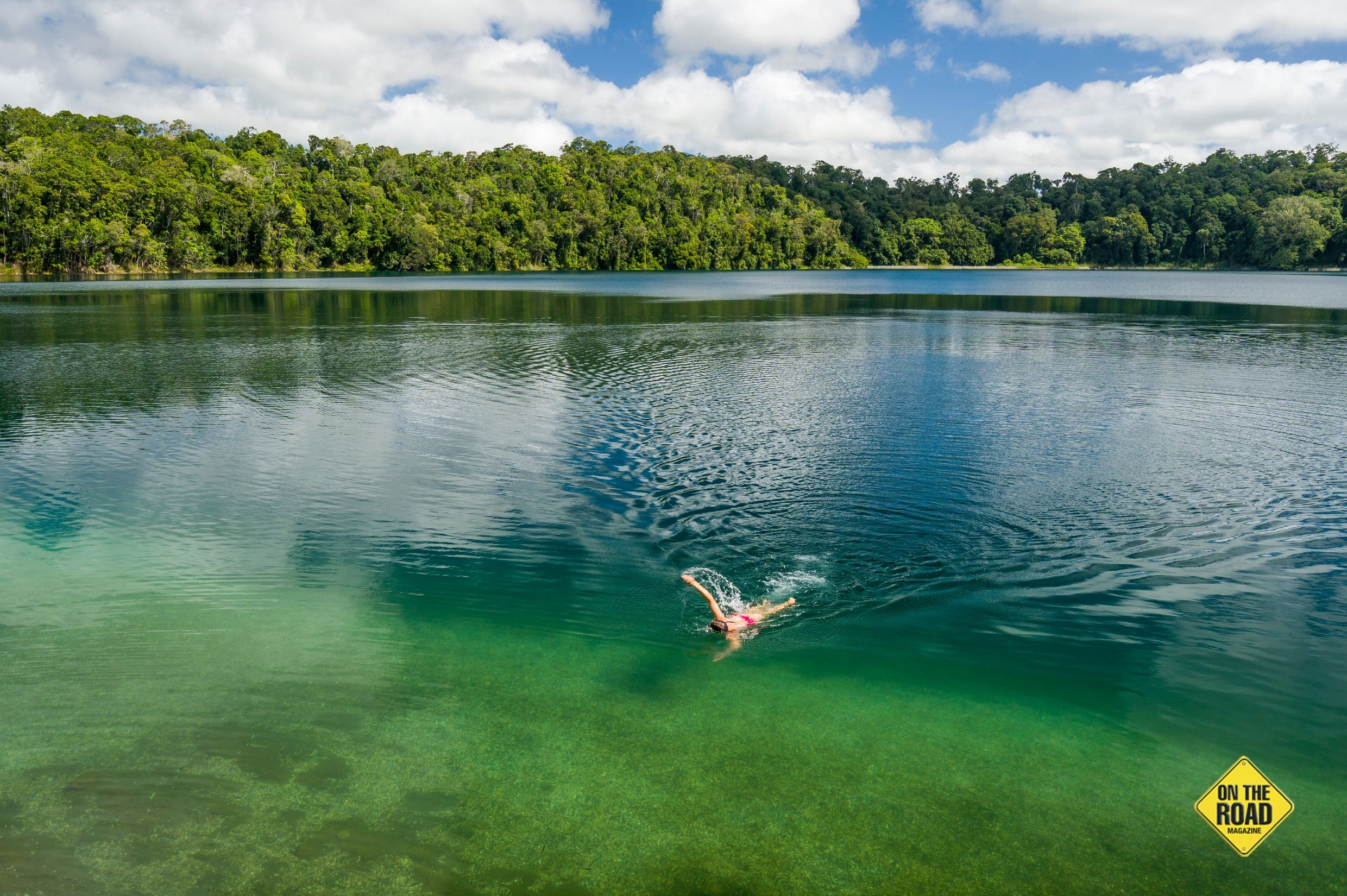 Chill your bones in Lake Eacham's uber-clear volcanic crater