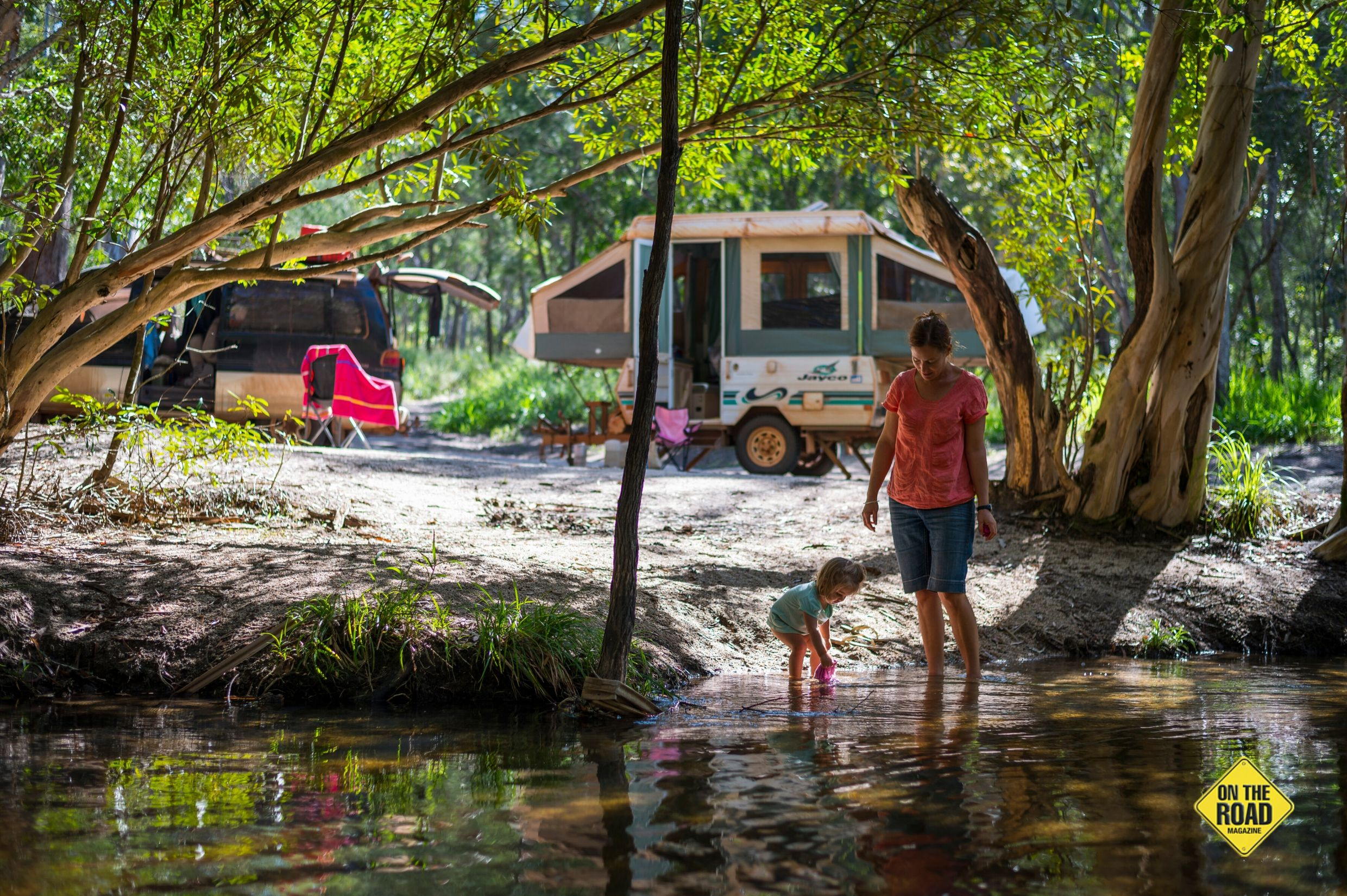 Escape the crowds and stake out a waterfront camp in Dinden National Park.