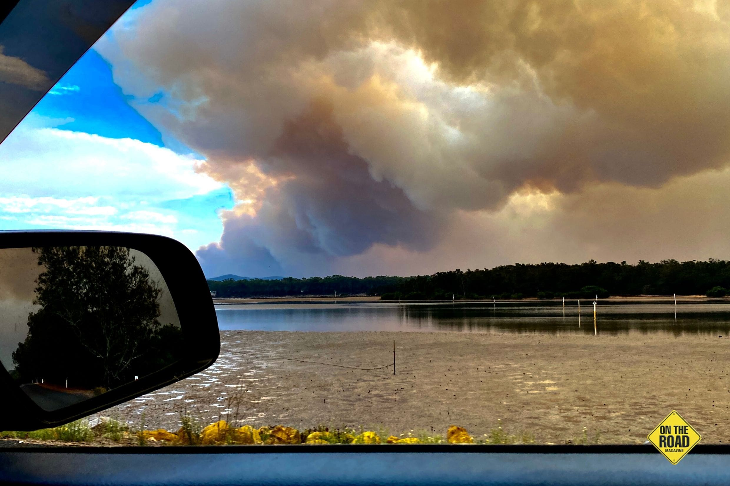 Threatening sky during the fires