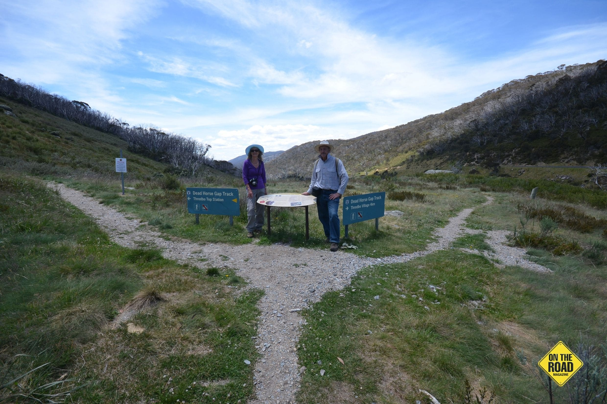 At the intersection of Dead Horse Gap and Thredbo Tracks