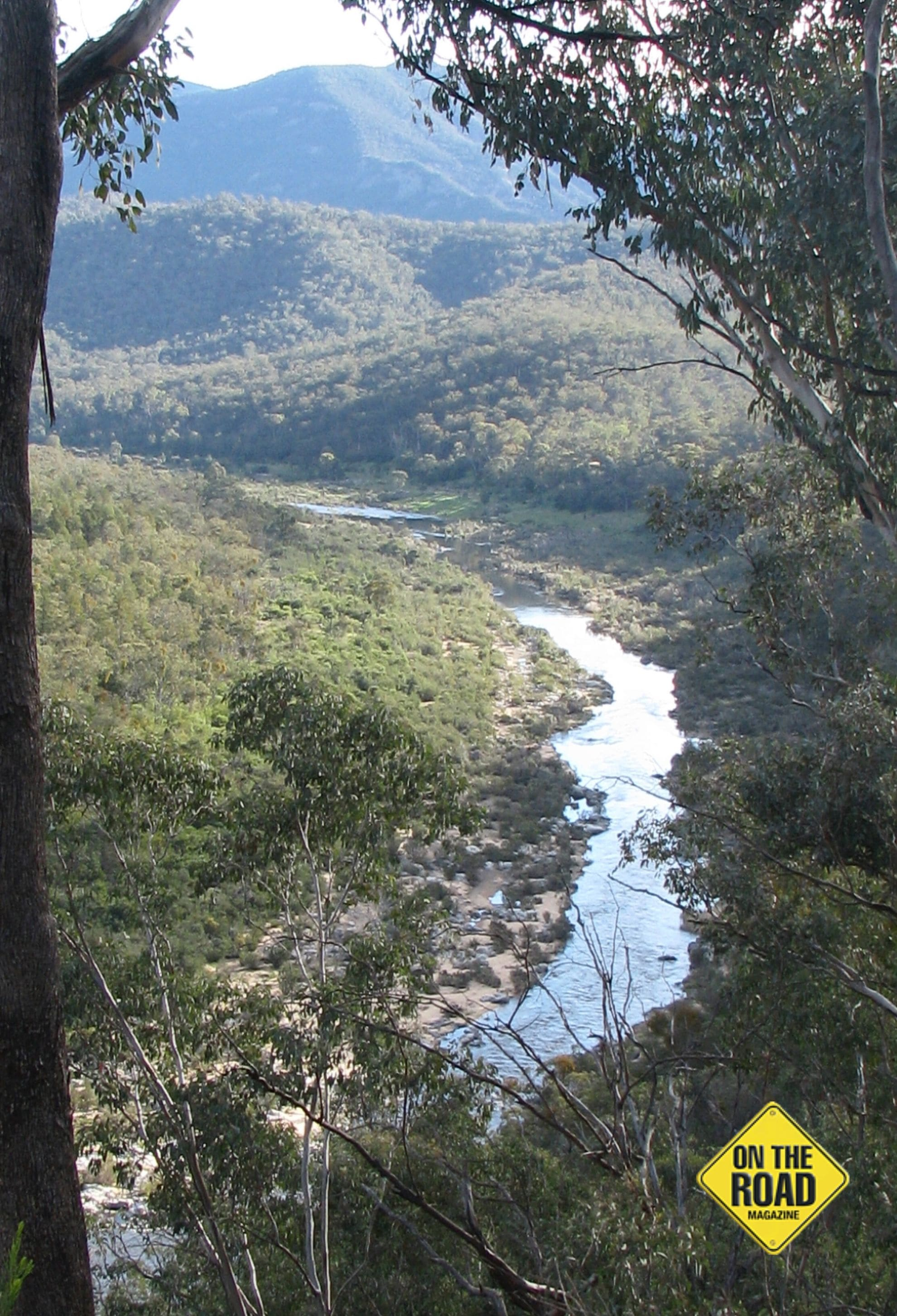 The Snowy River slowly making its way to the sea at Marlo