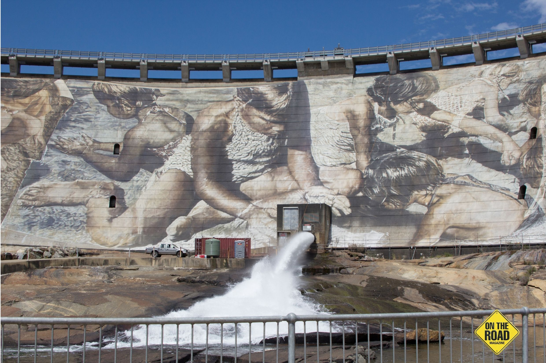 Wellington Dam Wall Mural